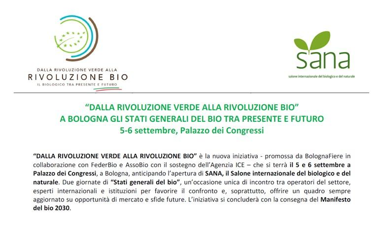 Gli Stati Generali del Biologico: dalla Rivoluzione Verde alla Rivoluzione Bio